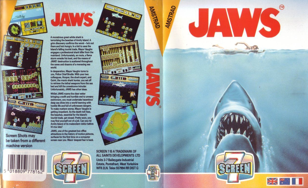 cover of the Amstrad CPC game jaws by Mig