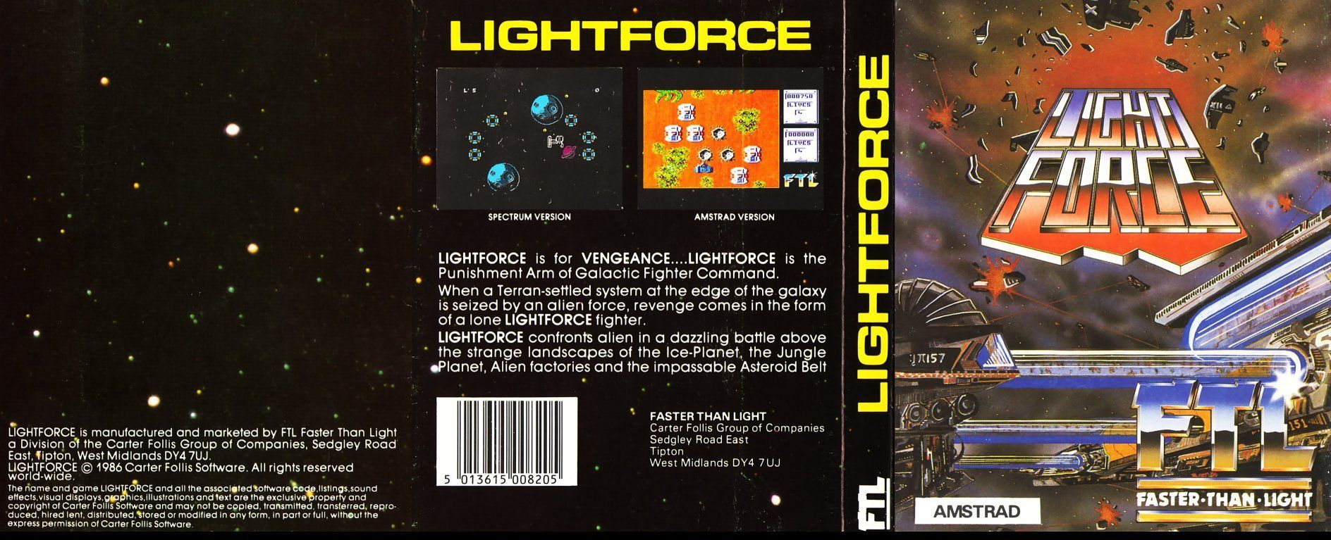 cover of the Amstrad CPC game light_force by Mig
