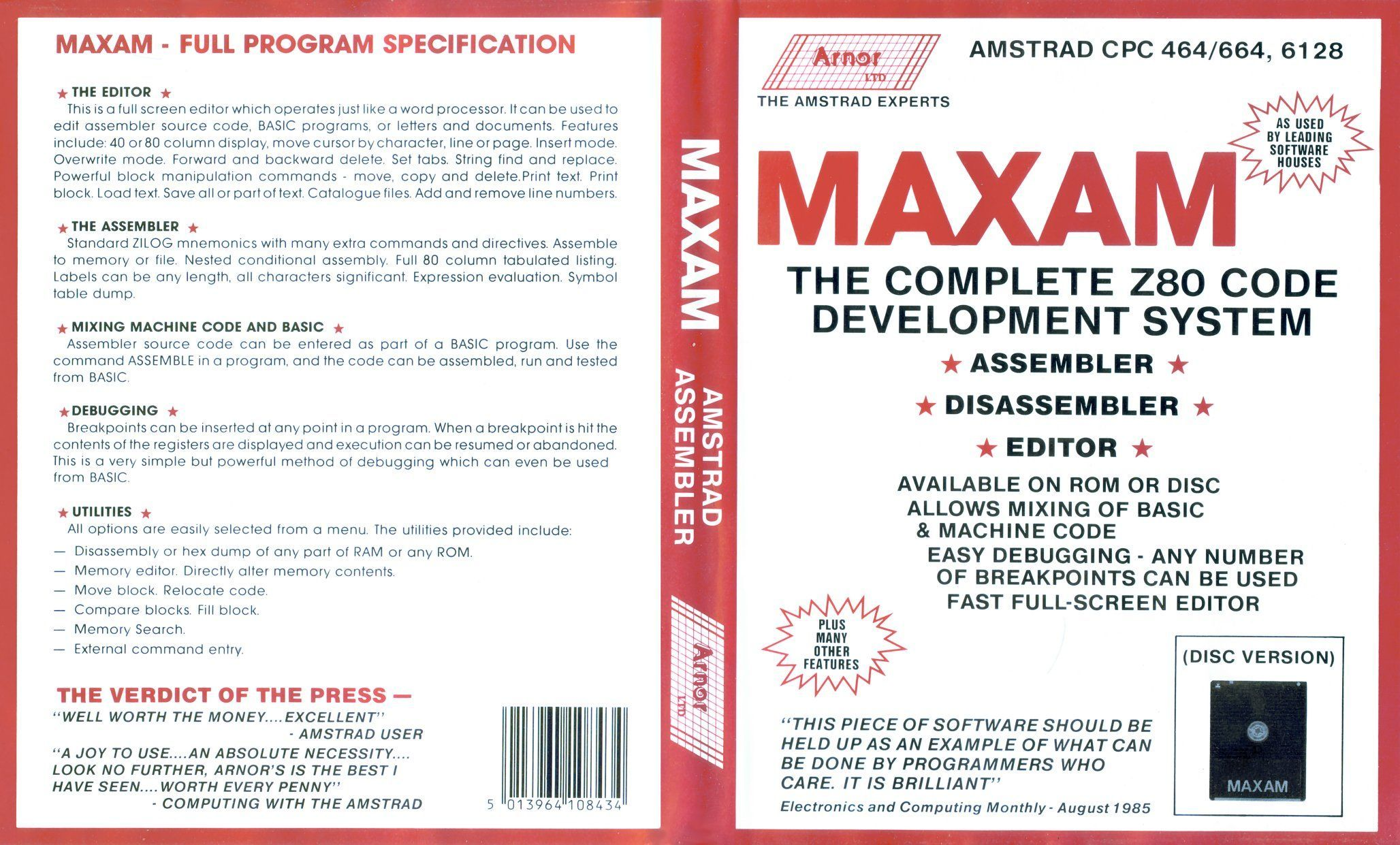 cover of the Amstrad CPC game maxam by Mig