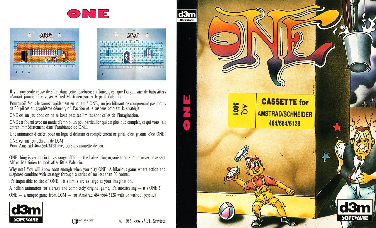 cover of the Amstrad CPC game one by Mig