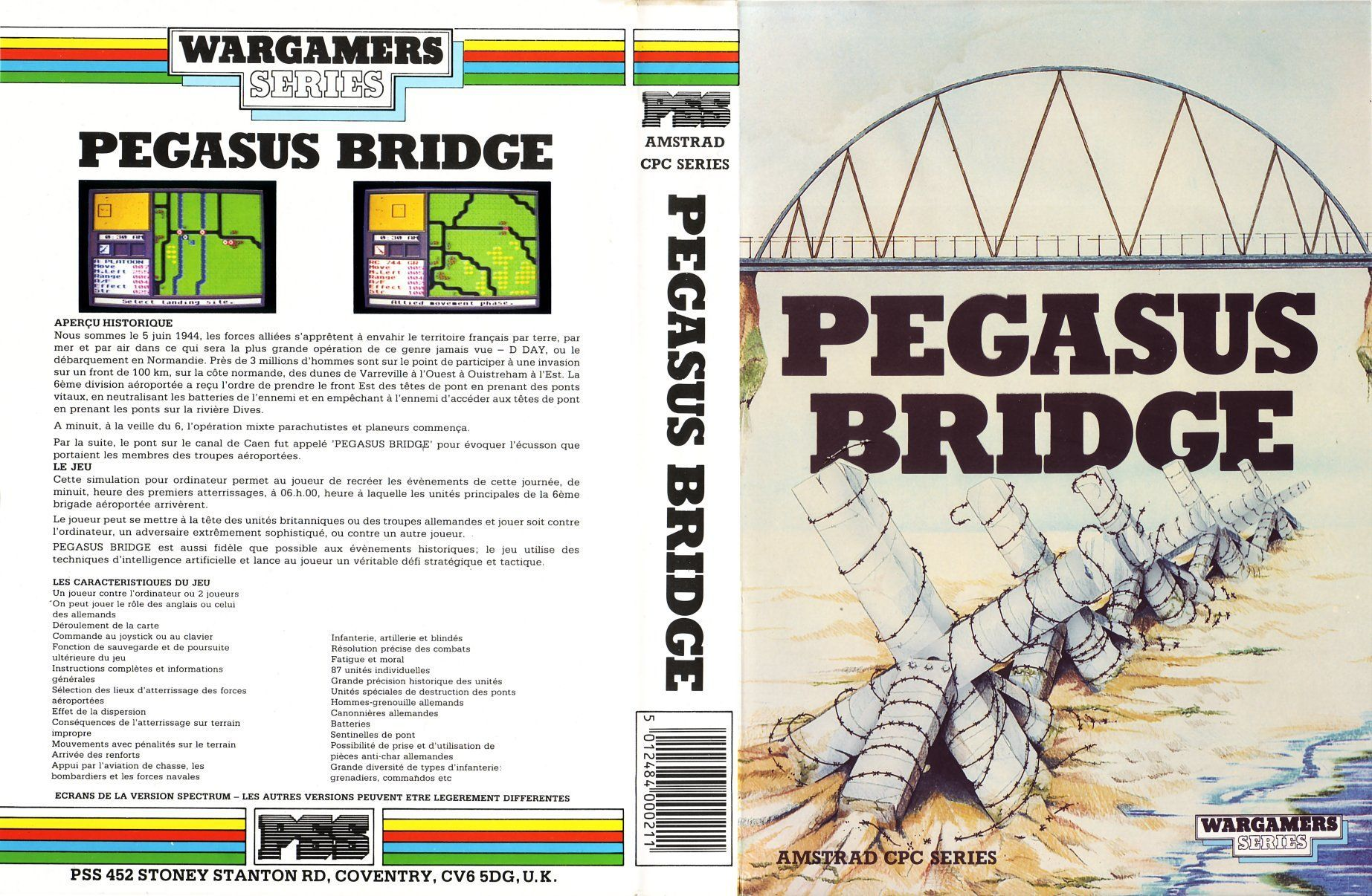 cover of the Amstrad CPC game pegasus_bridge by Mig