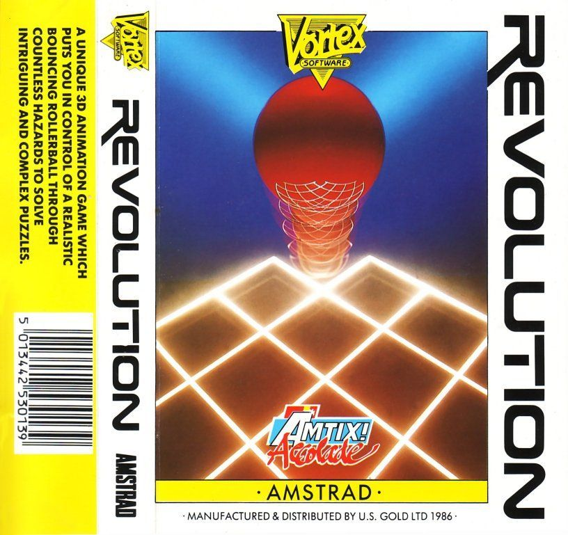 cover of the Amstrad CPC game revolution by Mig