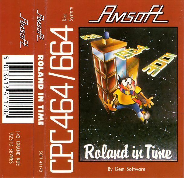 cover of the Amstrad CPC game roland_in_time by Mig