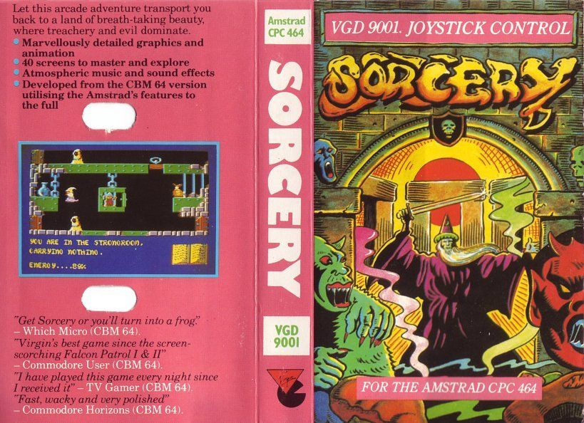 cover of the Amstrad CPC game sorcery by Mig