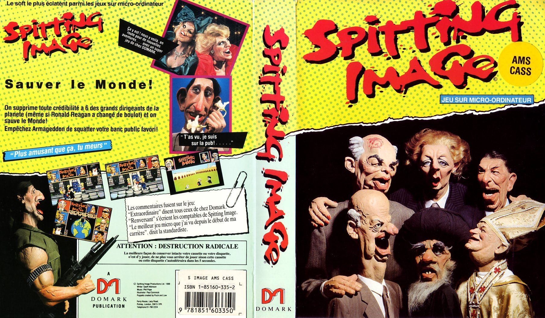 cover of the Amstrad CPC game spitting_image by Mig