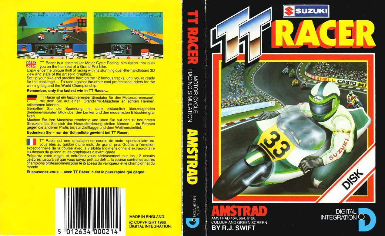 cover of the Amstrad CPC game tt_racer by Mig
