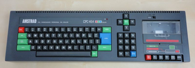 Amstrad CPC 464 avant l'opération