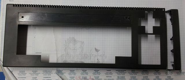 découpe de l'Amstrad CPC 464, 1 sur