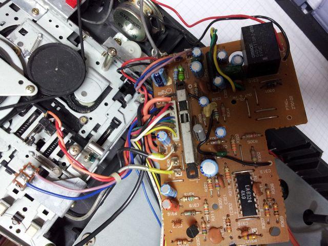 électronique du lecteur cassette de l'Amstrad CPC 464, 2 sur 2