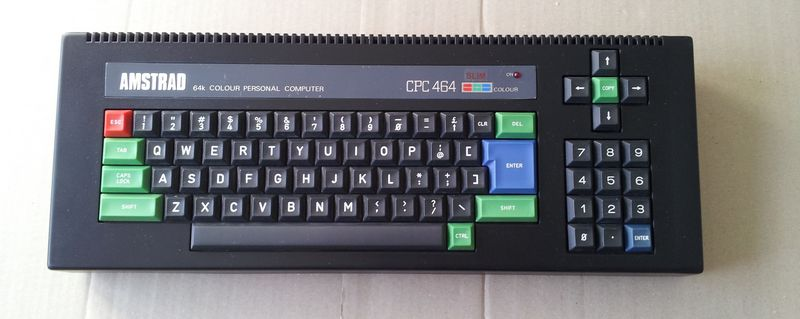 l'Amstrad CPC 464 après l'opération sans son lecteur de cassette