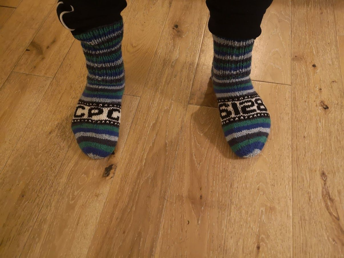 Amstrad CPC 6128 socks made with love