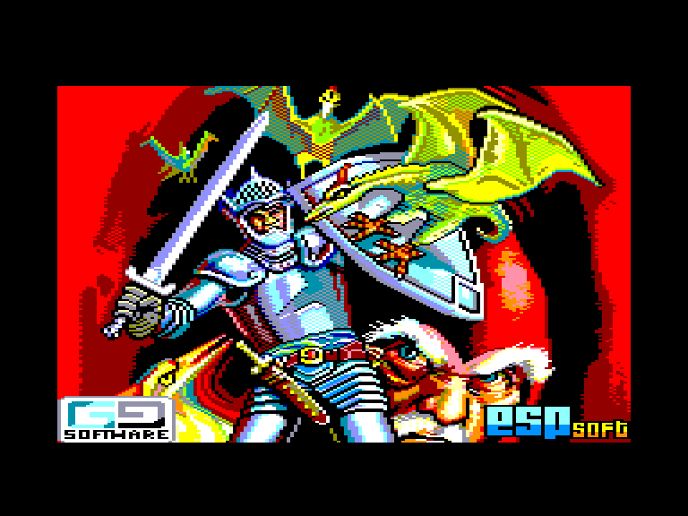 loading screen of the Amstrad cpc game El Linaje Real by ESP Soft