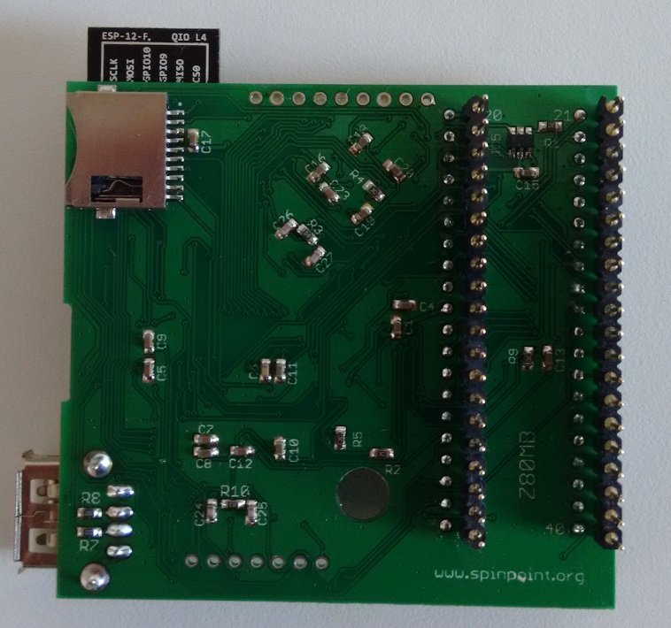back of the galaxy board by duke for Amstrad GX4000