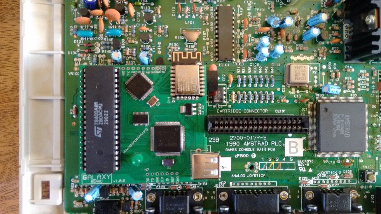 Amstrad GX4000 avec la carte galaxy par duke