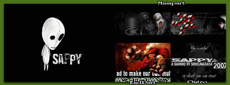 Ecran de la démo Amstrad CPC+ Sappy par Semilanceata
