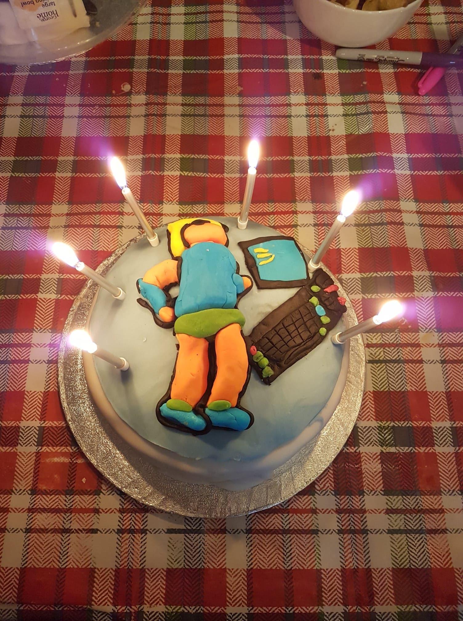 gateau d'anniversaire de Xyphoe
